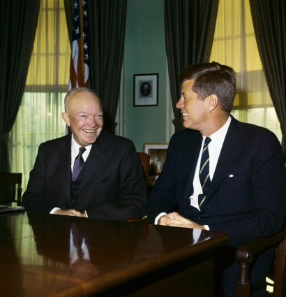 President Eisenhower and John F. Kennedy